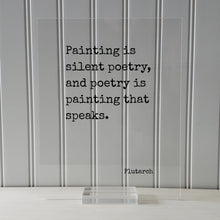 Plutarch - Floating Quote - Painting is silent poetry, and poetry is painting that speaks - Gift for Artist Poet Painter Art Writer