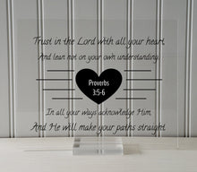 Proverbs 3:5-6 - Trust in the Lord with all your heart He will make your paths straight - Floating Scripture Bible Verse Christian Religious