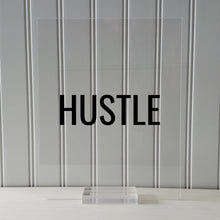 Hustle Sign- Floating Quote Hard Work Motivation Success Business Progress Inspiration Workout Exercise Achievement Entrepreneur Frame Gift