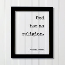 Mahatma Gandhi - Floating Quote - God has no religion. - Quote Art Print - Motivational Print - Inspirational Gandhism