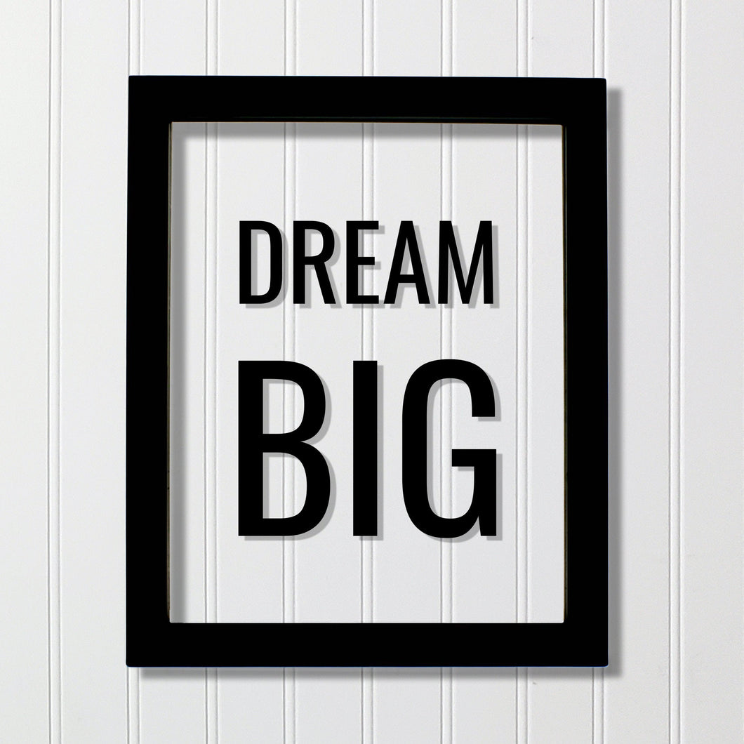 Dream Big - Floating Quote - Believe in your dreams Imagination - Motivation Success Business Progress Inspiration Achievement Victory