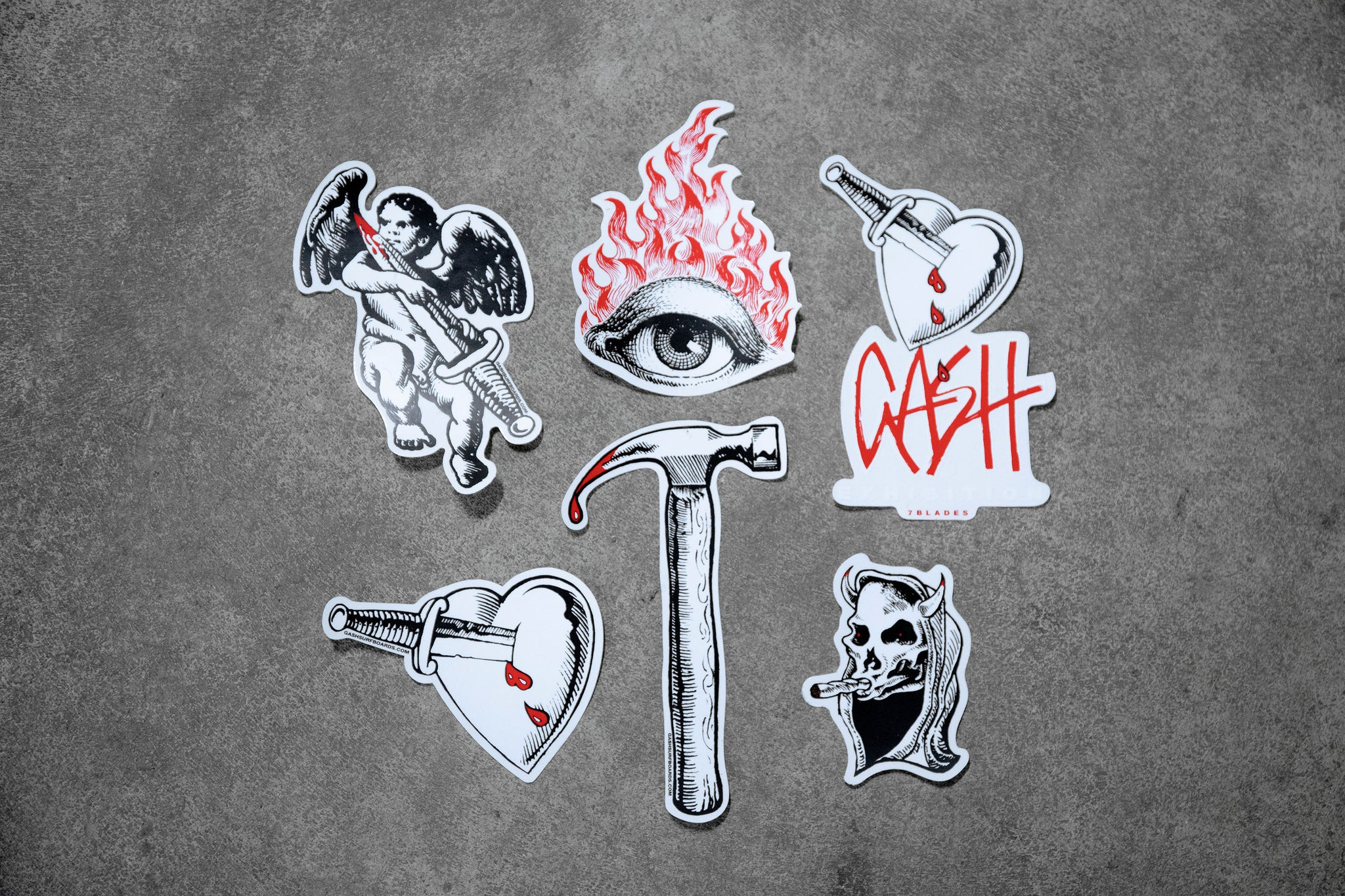 7BLADES STICKER PACK