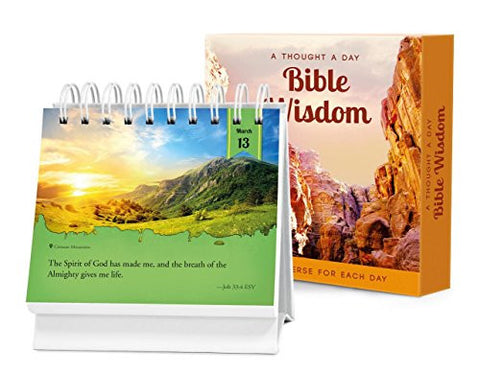 A Thought a Day Bible Wisdom: A Daily Desktop Quotebook