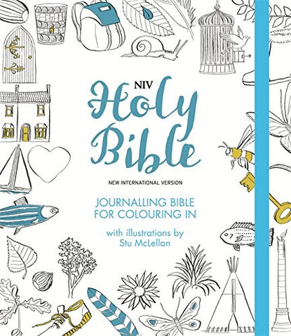 NIV Journalling Bible for Colouring In: With unlined margins and illustrations to colour in (New International Version)