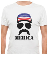 Merica Mustache and Hat T-shirt - K13 Products