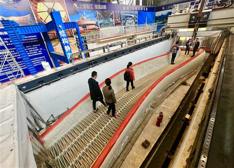 Shanghai opens the world's longest 3D printed concrete pedestrian bridge.