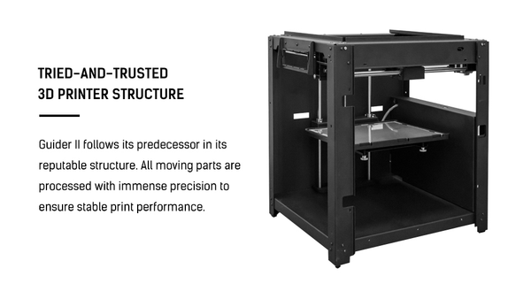 Flashforge Guider II 3D Printer Construction