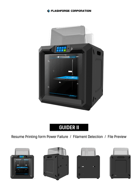 Flashforge Guider II 3D Printer Features