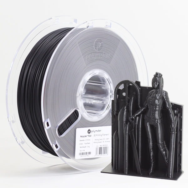 Polymaker Polylite PLA 1.75mm 1kg Filament Black