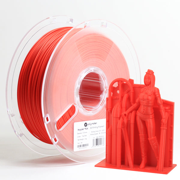 Polymaker Polylite PLA 1.75mm 1kg Filament Red