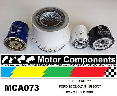 FILTER SERVICE KIT Oil Air Fuel MAZDA E2200 R2 2.2 Litre DIESEL 5/1984 > 5/1997