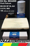 FILTER SERVICE KIT Air Oil Fuel FORD FALCON EB ED EF EL AU NC NF NL 6 cyl & V8