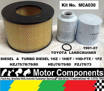 Landcruiser HZJ70 HZJ73 HZJ75 HZJ80 HDJ80 HDJ78 HDJ79 1HZ 1HD FILTER KIT