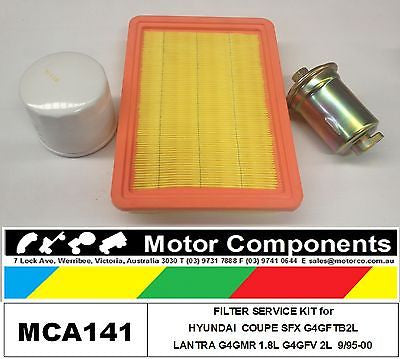 FILTER  KIT for HYUNDAI COUPE SFX G4GFT 2L LANTRA G4GMR 1.5L G4GFV 2L 95-00