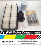 VITARA SWB 8/91-00 LWB 91-98 G16B SE416 FILTER KIT & SPARK PLUGS see notes