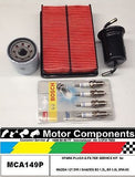 SPARK PLUGS & FILTER  KIT  MAZDA 121 DW / SHADES B3 1.3L B5 1.5 Litre  8/96-03