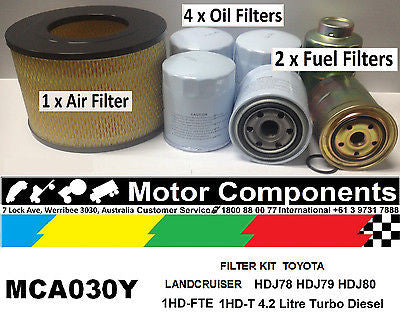 FILTER KIT Air Oil Fuel for TOYOTA LANDCRUISER HDJ78 79 80 HDJ81 1HD-T 1HD-FTE