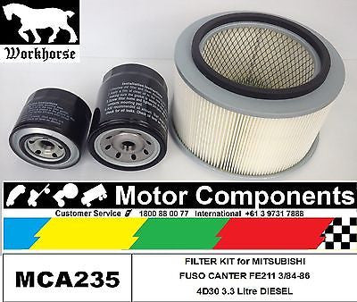 MITSUBISHI FUSO CANTER FE211 March 1984 > 1986 FILTER SERVICE KIT Air Oil Fuel