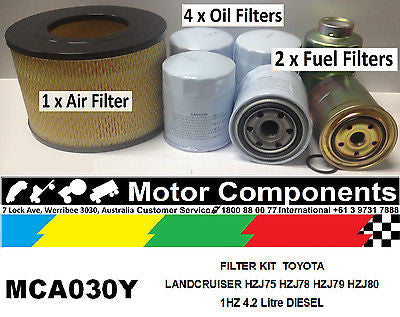 FILTER SERVICE KIT Air Oil Fuel for TOYOTA LANDCRUISER HZJ75 78 79 80 1HZ 4.2L