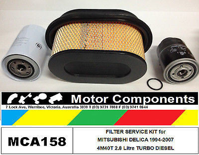 FILTER SERVICE KIT Oil Air Fuel MITSUBISHI DELICA 4M40T 2.8l DIESEL TURBO 94-07