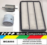 FILTER  KIT for  HOLDEN FRONTERA MX JACKAROO USB25/26 RODEO R9 6DV1 1992-2004