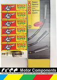 FORD FALCON 6 cyl 1960-76 SPARK PLUGS & IGNITION LEADS BOSCH