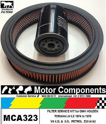 FILTER SERVICE KIT Oil Air HOLDEN GM TORANA LH LX Petrol V8 4.2L 5L 3/1974-1976