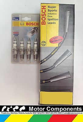 MITSUBISHI LANCER CA CB 4G15 SOHC 1.5 Litre CARBY SPARK PLUGS & LEADS BOSCH