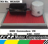 SERVICE KIT GMH Commodore VN 3.8L V6 8/88-10/91 OIL FUEL & AIR FILTERS