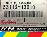TOYOTA GRILLE , RADIATOR, LOWER 8/04-07/07 ZZE12*..5D; GENUINE 53112-13010