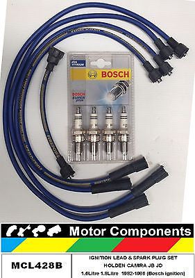 IGNITION LEADS & PLUGS  Holden Camira JB JD 1.6L 1.8L 16JH 18JU MCL428B BOSCH