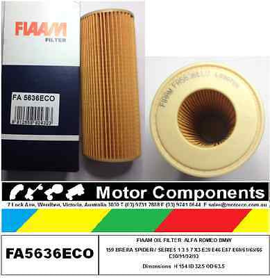 OIL FILTER BMW E87 E90 E83 X3 Diesel 11427787697 HU722X ALFA 159 SPIDER