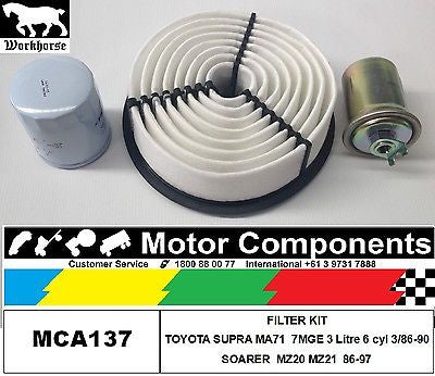 FILTER SERVICE KIT TOYOTA  SOARER MZ20 MZ21 7M-GTEU TURBO 3L  86-97