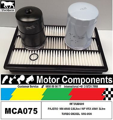 MITS PAJERO 3.2L 2.8L TURBO DIESEL NM NP FILTER SERVICE KIT Oil Air Fuel 00>9/06