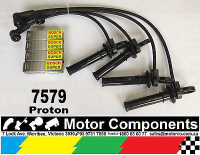 IGNITION LEADS & SPARK PLUGS for PROTON GEN2 1.6 LitreDOHC S4PHAB 2004 on