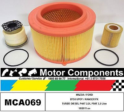 FILTER KIT MAZDA BT50 P4AT 2.2 Litre  P5AT 3.2 Litre TURBO DIESELS 10/ 2011 on
