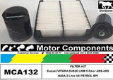 Suzuki VITARA SV620 SWB H20A 2 Litre V6 FILTER KIT Air Oil Fuel 4/1995 > 9/1999