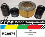 FILTER SERVICE KIT Air Oil Fuel MAZDA B2200 BRAVO  S2  2.2L DIESEL  1980-1985