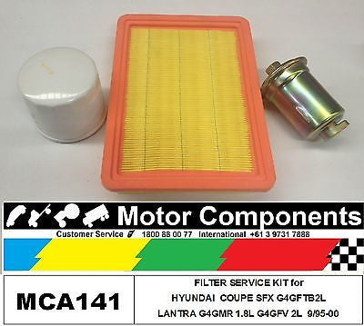 FILTER SERVICE KIT for HYUNDAI COUPE SFX G4GFT 2L LANTRA G4GMR 1.8L G4GFV 2L
