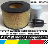 TOYOTA LANDCRUISER FJ60 FJ62 FJ70 FJ73 FJ75 FJ80  2F 3F FILTER KIT Oil Air Fuel