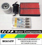 SPARK PLUG & FILTER KIT Oil Air Fuel FORD FESTIVA WB WD B5 1.5 Litre 1/97-12/97
