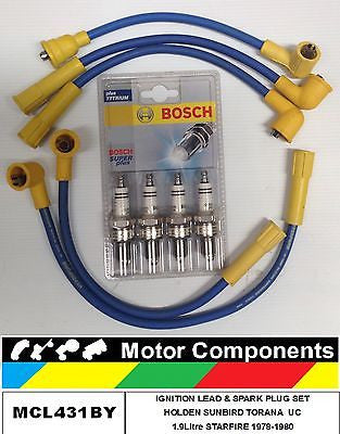 IGNITION LEAD Spark Plug Holden Sunbird Torana UC 1.9L STARFIRE 8mm BOSCH TYPE
