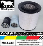 MITSUBISHI FUSO CANTER FE84P 3.5 FE85 4.0 FE85P 4.5 4D34-3AT3B 05-08 FILTER KIT