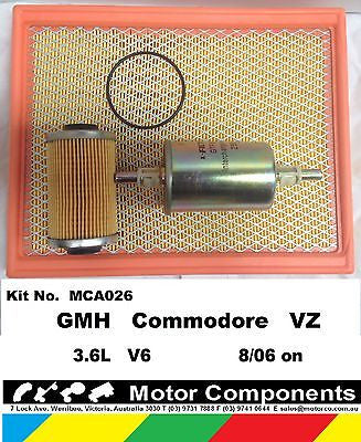 FILTER SERVICE KIT for GMH COMMODORE VZ 3.6 Litre V6 8/04-8/07 OIL FUEL AIR