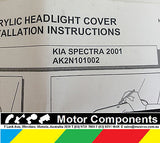KIA SPECTRA  HEAD LAMP PROTECTOR 2001 GENUINE AK2N101002