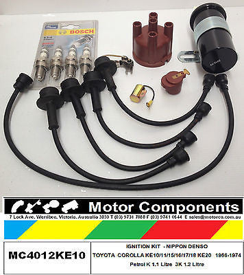 IGNITION KIT COMPLETE TOYOTA KE10 KE11 KE15 KE16 KE17 KE18 KE20, K & 3K MOTORS