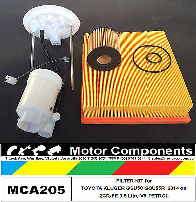 for TOYOTA KLUGER GSU50R GSU55R Petrol V6 3.5L 2GR-FE 3/14-on  FILTER KIT