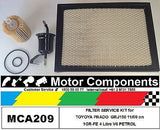 for TOYOTA PRADO GRJ150R Petrol V6 4.0L 1GR-FE FILTER SERVICE KIT 11/09 on