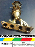 TOYOTA EXHAUST MANIFOLD with CAT CONVERTER 05/04 on  ZZE122, 1ZZFE 1.8 Litre