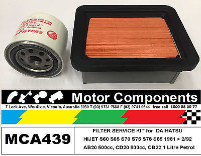 FILTER SERVICE KIT for DAIHATSU HIJET S60 S65 S70 S75 S76 S85 81>92
